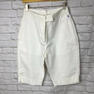 ** 3/$30 Brooks white bermuda shorts size 8